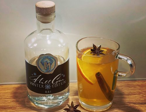 Apfel-Glüh-Gin mit Hill Gin Winter Edition